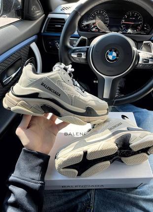 Кроссовки triple s beige кросівки
