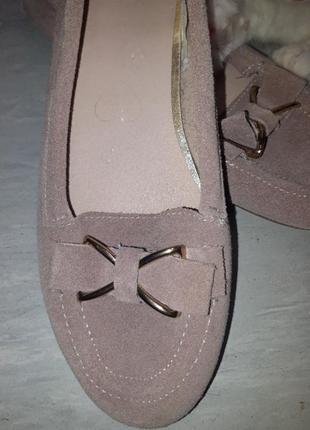 Замшевые мокасины. цвета пыльной розы2 фото