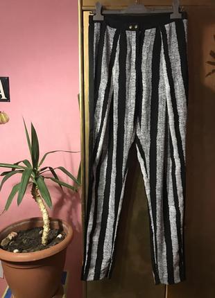 Летние штаны бананы в полоску vero moda