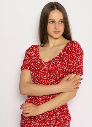 Красный топ,стильная футболка
