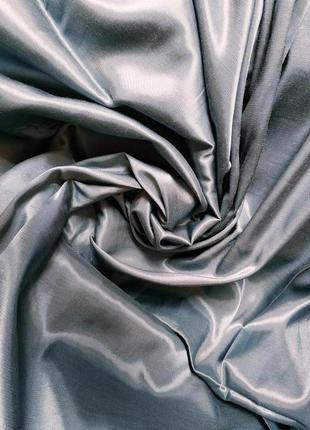 Атлас подкладочный премиум-класса серый ширина 1,5 м ткань ссср