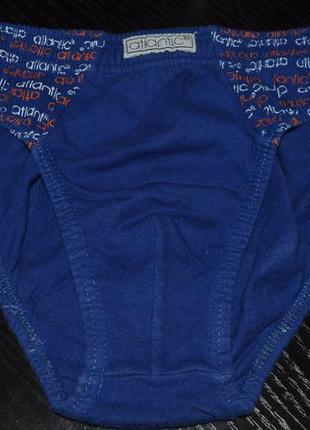 Трусы - плавочки, трусики atlantic  для мальчика 2 - 4 лет