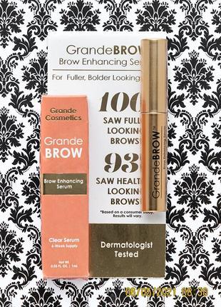 Сыворотка для роста бровей grande cosmetics brow enhancing serum 1 мл