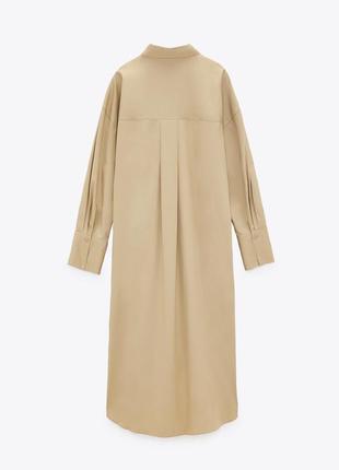 Оверсайз платье zara с накладными карманами2 фото