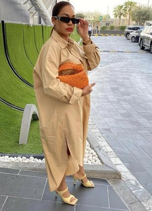 Оверсайз платье zara с накладными карманами6 фото