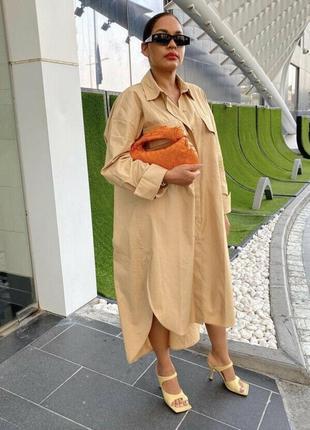 Оверсайз платье zara с накладными карманами5 фото