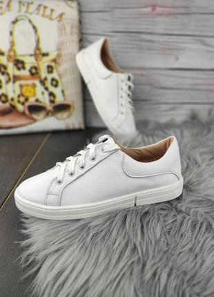 💯кожа белые кеды базовые. білі кеди кросівки шкіряні