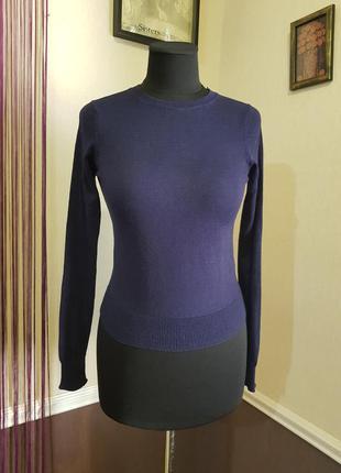 Синий свитер zara