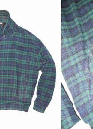 Куртка бомбер из 100% шерсти .