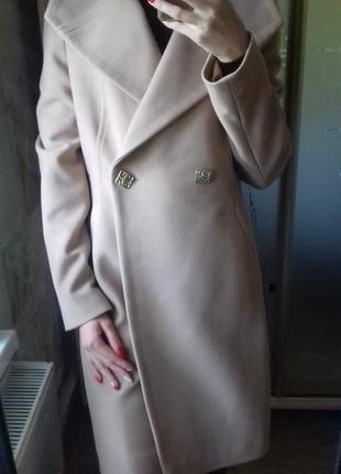 Кашемировое пальто демисезонное