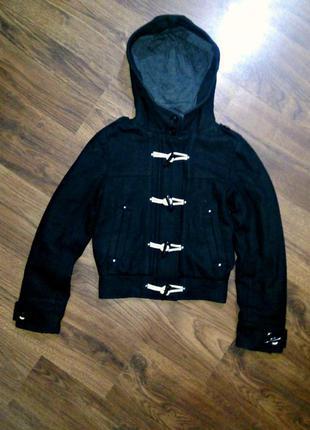Куртка пальто от h&m на пуговицы кашемировое демисезонное эврозима осень весна