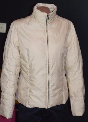 Куртка молочного цвета, наполнитель пух (италия)