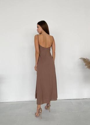 Платье - комбинация в шоколадном цвете