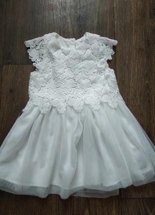 Праздничное платье, белое платье, гипюр