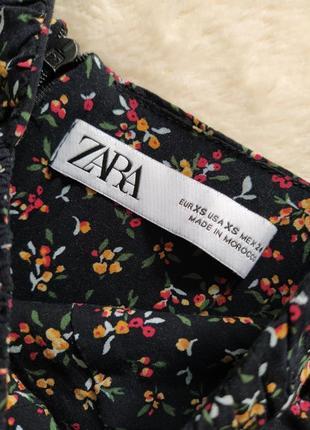 Платье миди с разрезом в цветочек zara6 фото