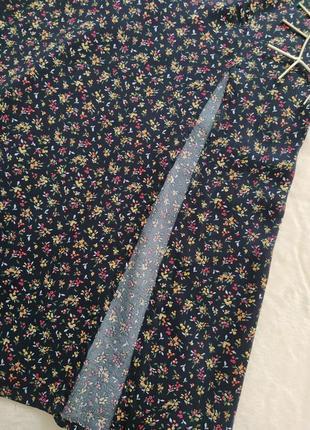 Платье миди с разрезом в цветочек zara5 фото
