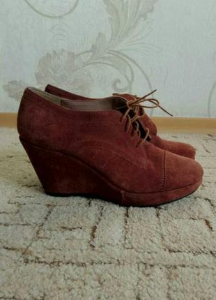 Замшевые ботильоны, туфли, ботинки