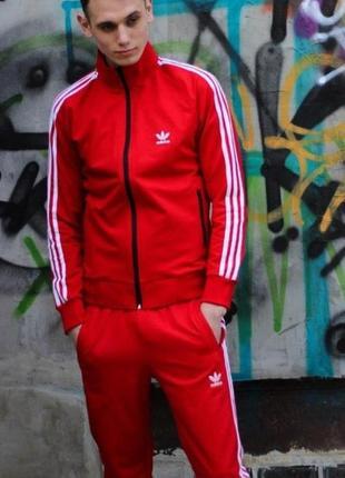 Костюм красный adidas