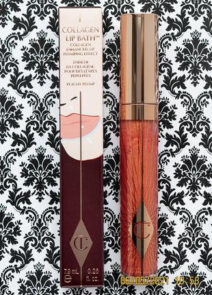 Коллагеновый блеск для губ charlotte tilbury collagen lip bath peachy plump 7.9 мл плампер