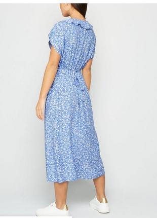 Нежное вискозное платье с рюшей8 фото