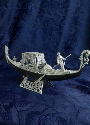 Шкатулка сувенирная ссср гондола днепропластмасс советская пластиковая лодка в коробе