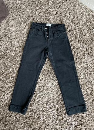 Прямые джинсы с отворотом zara