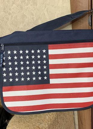 Сумка портыель американский флаг