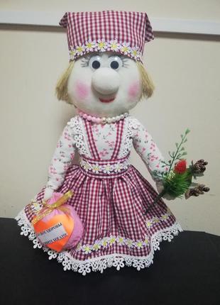 Интерьерная кукла оберег домовушка