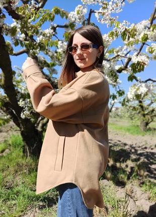 Рубашка бежевого цвета stradivarius, утепленная рубашка