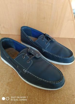 Кожаные туфли мокасины топсайдеры експадрили soleflex