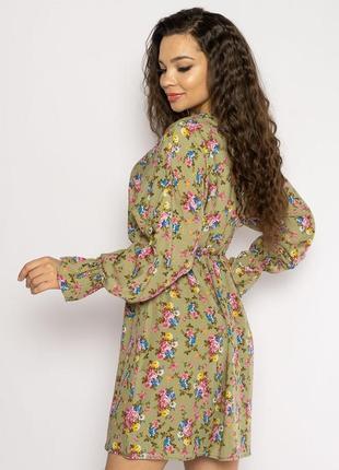 Платье с весенним принтом 632f004-24 фото