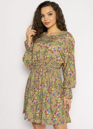 Платье с весенним принтом 632f004-22 фото