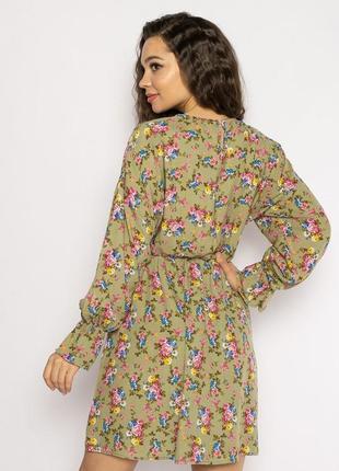 Платье с весенним принтом 632f004-25 фото