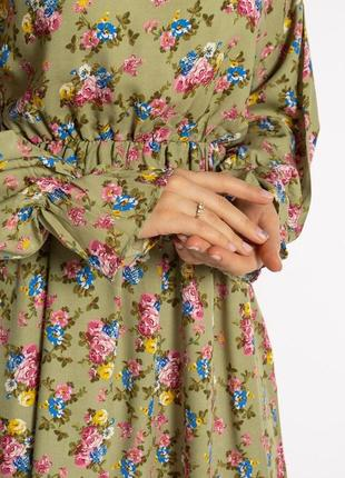 Платье с весенним принтом 632f004-26 фото
