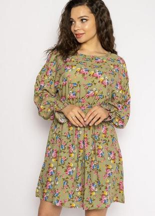 Платье с весенним принтом 632f004-23 фото