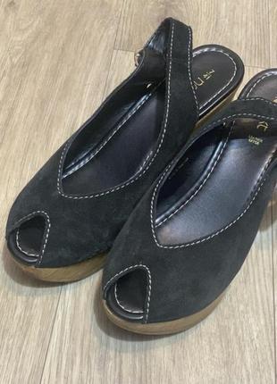 Фирменные босоножки туфли клоги 39-40р2 фото