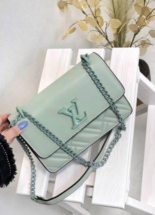 Женская сумка мятная