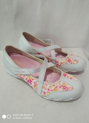 Кожаные комбинированные кроссовки, туфли,мокасины skechers