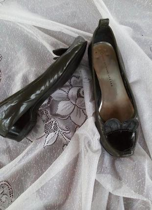 Милые туфли балетки лоферы кожа оригинал!низкий каблук