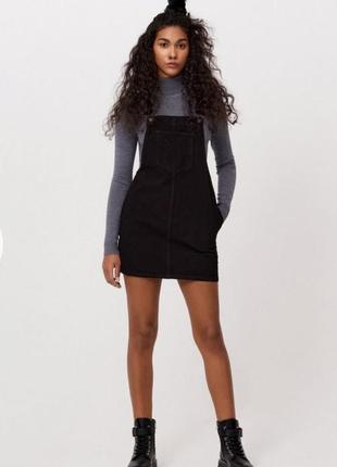 Джинсовый комбинезон-платье