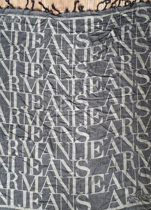 Брендовый шерстяной платок от armani 95*95