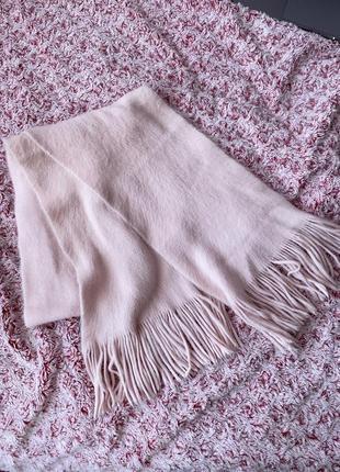 Мягенький розовый шарф