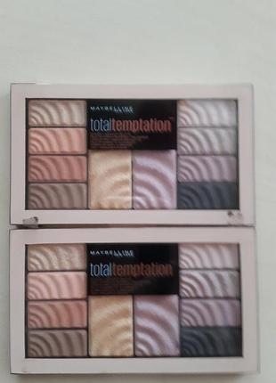 Палетка total temptation maybelline