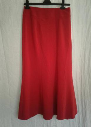 Юбка 8ми-клинка красная, xxxl