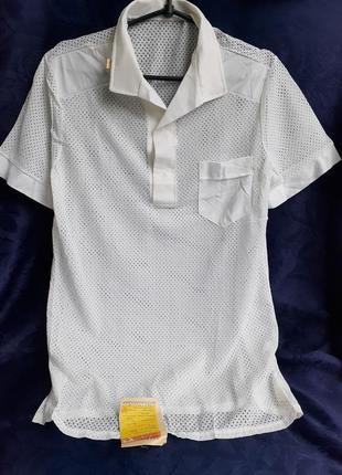 1976 год! поло ссср рубашка футболка сетка советская трикотаж винтаж ретро