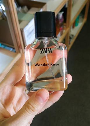 Повреждена упаковка парфюмированная вода zara wonder rose 30 ml духи оригинал