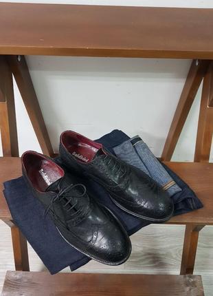 Мужские кожаные оригинальные туфли броги baldinini made in italy 42
