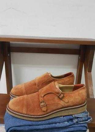 Мужские замшевые туфли  дабл монки brimarts 42 bally a.testoni