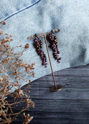 Серьги гроздья