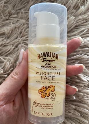 Солнцезащитный лосьон для лица hawaiian  tropic spf 30